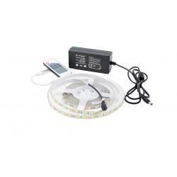 Kit Banda LED 5050 Alb Rece 60 leduri/metru 5 metri+ alimentare + controller