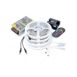 Kit Banda LED 5050 IP20 RGB 30 leduri/metru 20 metri+ alimentare + controller touch