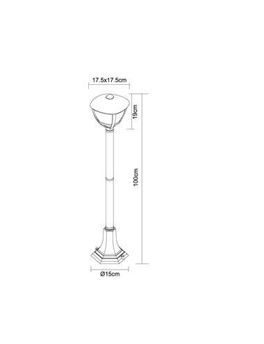 Lampa de exterior antracit, 1 bec, dulie E27, Globo 31998