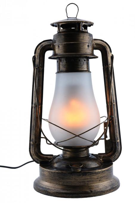 Lampa led cu efect de flacara, bronz, putere 5W, Optonica
