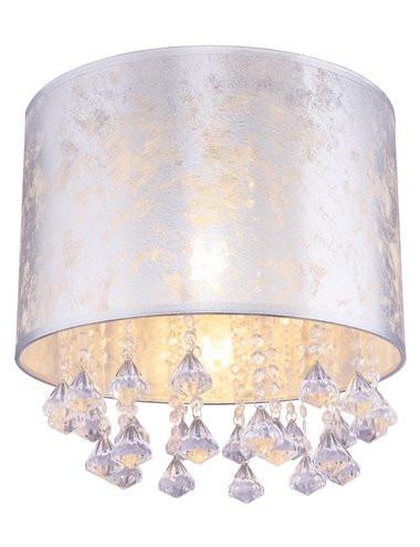 Plafoniera argintie cu cristale, 1 bec, dulie E27, Globo 15188D3S