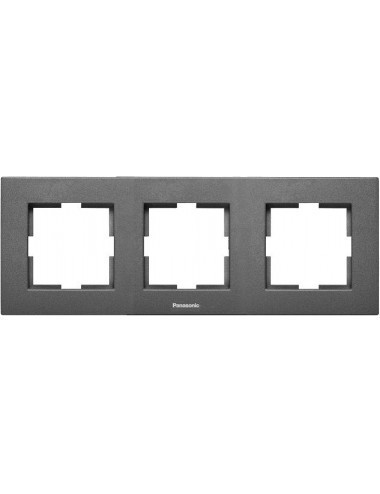 Rama 3 module, orizontala, IP20, Grafit, Panasonic Arkedia Slim