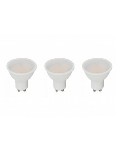 Set 3 becuri led GU10, 5W(35W), 400lm, A+, lumina alba naturala, V-TAC