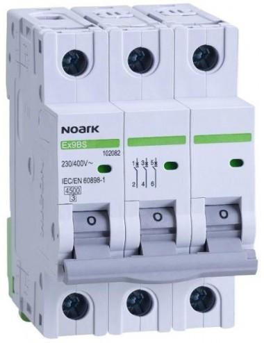 Siguranta automata 3P, 63A, curba de declansare C, capacitate de rupere 4,5kA, Noark