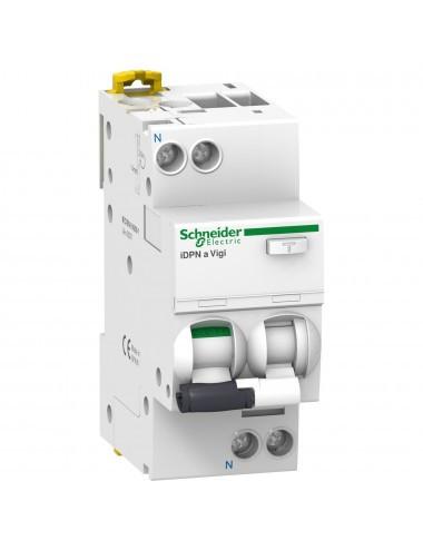 Siguranta automata cu protectie diferentiala 10A P+N, tip AC, 30mA, curba de declansare B, 10kA, Schneider