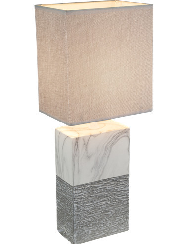 Veioza ceramica gri, 1 bec, dulie E27, Globo 21643T