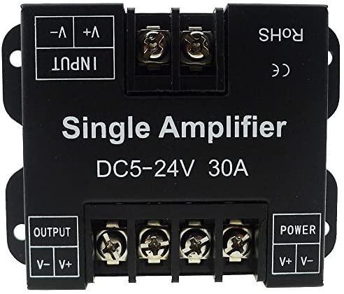 Amplificator banda led monocolor, 12-24V, 30A