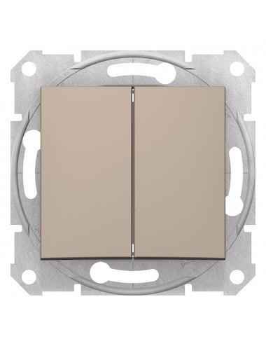 Intrerupator dublu, 10A, IP 20, Titan, Schneider Sedna