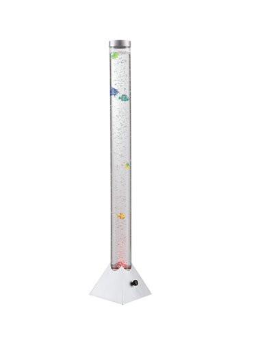 Lampadar argintiu, 12 leduri RGB, Globo 9015