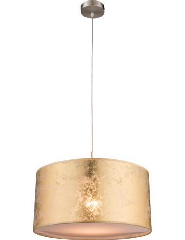 Pendul metalic auriu, 1 bec, dulie E27, Globo 15187H