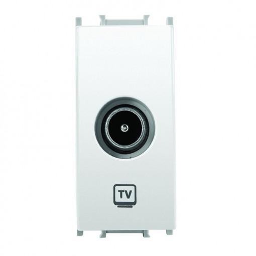 Priza TV trecere 1 modul Thea Modular Panasonic, Alba