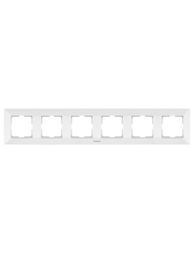 Rama 6 module orizontala IP20, Alb, Panasonic Arkedia Slim
