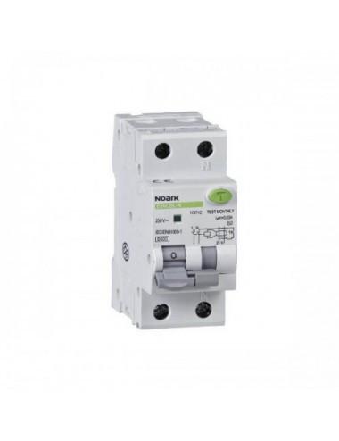 Siguranta automata cu protectie diferentiala 25A 2P, tip AC, 30mA, 4,5kA, Noark