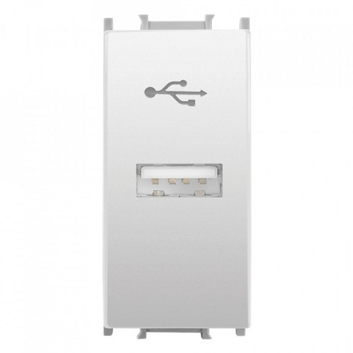 Conector USB transfer 1 modul, alb, Thea Panasonic