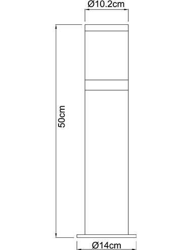 Lampa de exterior otel inoxidabil sticla, 1 bec, dulie E27, Globo 32015