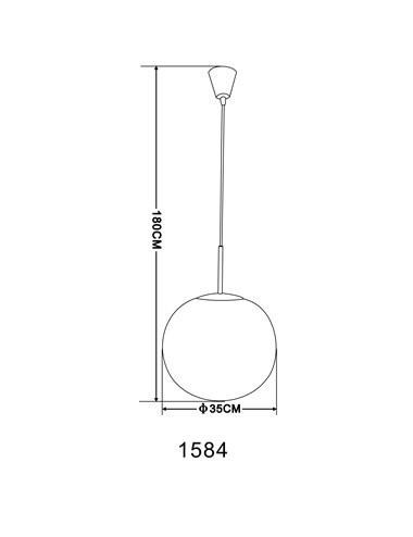 Pendul mat alb, 1 bec, dulie E27, Globo 1584