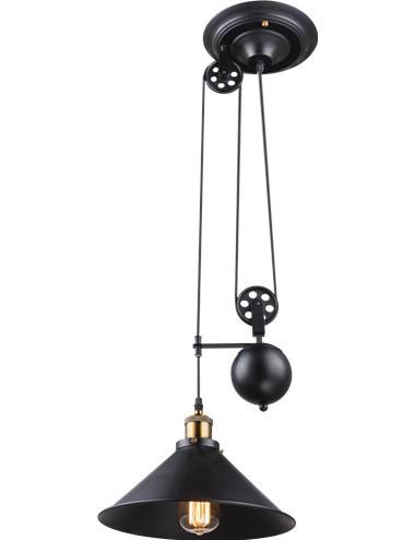 Pendul vintage negru, dulie E27, Globo 15053