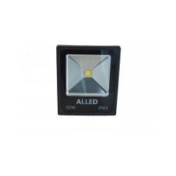 Proiector led 50W COB IP65 6500K, Negru, Alled