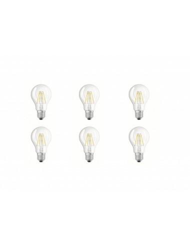 Set 6 becuri led Vintage, 4W(40W), E27, 470 lm, A+, lumina calda, Osram