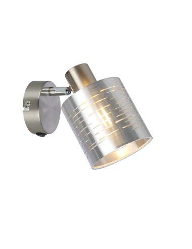 Aplica argintie, 1 bec, dulie E14, Globo 15343-1