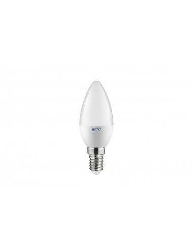 Bec led E14, 6W(40W), lumina alba naturala, 4000K, 470 lm, A+, GTV