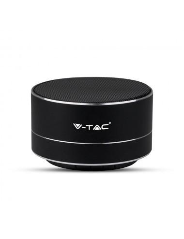 Boxa Bluetooth portabila, slot microSD, jack 3.5mm, 3 ore, neagra, V-TAC