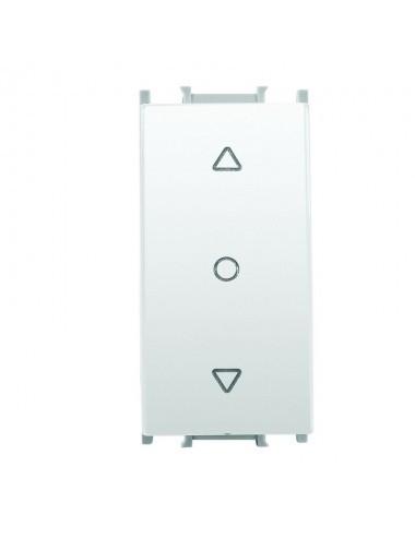 Intrerupator jaluzele cu retinere 1 modul Thea Modular Panasonic, Alb