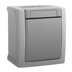 Intrerupator simplu IP54 Pacific Panasonic, PT, gri