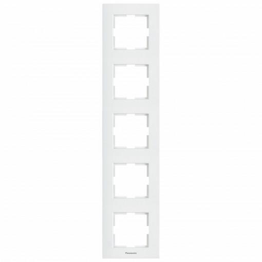 Rama 5 module verticala Karre Plus Pansonic, alba