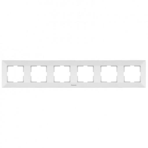 Rama 6 module orizontala Arkedia Pansonic, alba