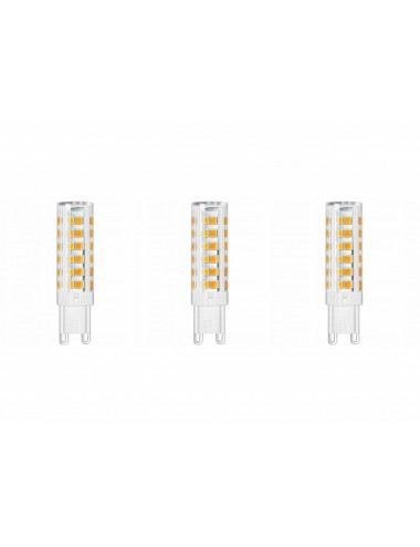 Set 3 becuri led G9, 8W(65W), 610lm, A+, lumina alba naturala, Lumiled
