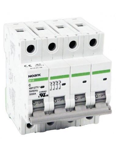 Siguranta automata 3P+N, 25A, curba de declansare C, capacitate de rupere 4,5kA, Noark