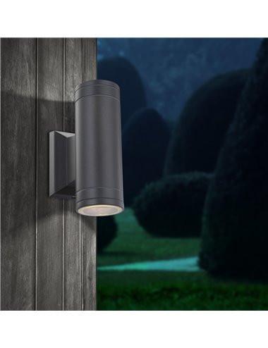 Aplica de exterior aluminiu gri, 2 becuri, dulie GU10, Globo 32028-2