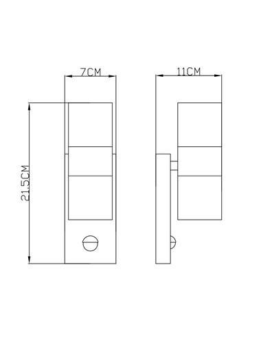 Aplica de exterior otel inoxidabil, 2 becuri, dulie GU10, Globo 3201-2SL