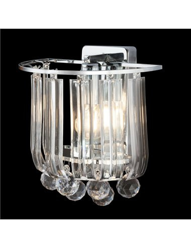 Aplica transparenta cu cristale, 1 bec, dulie E14, Globo 15303W