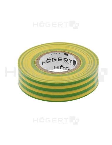 Banda izolatoare galben-verde 20m, Hogert Technik