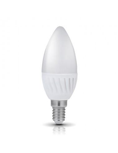 Bec led E14 lumanare dimabil, 8W(65W), 750lm, A+ , lumina calda, Kobi