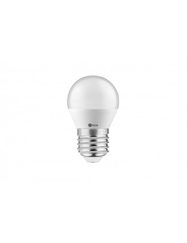 Bec led sferic GTV, G45 E27 6W, 470lm, 160grade, lumina calda 3000K