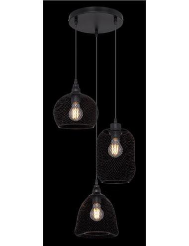 Pendul negru mat, dulie E27, Globo 15047-3