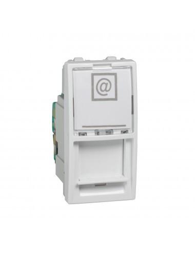 Priza internet RJ45, cat 5E, UTP, 1 modul, alba, Schneider Unica