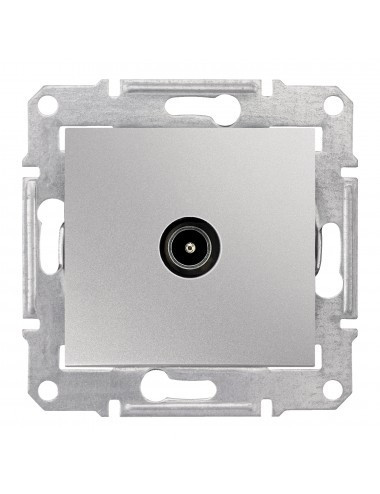 Priza TV capat, IP20, Aluminiu, Schneider Sedna