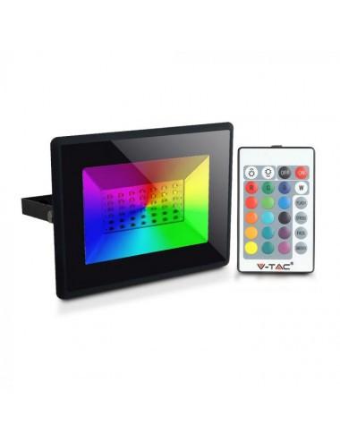 Reflector led RGB 50W cu Telecomanda Inclusa, V-TAC