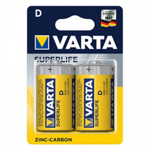 Set 2 baterii R20 AAA Varta Superlife, Zinc Carbon