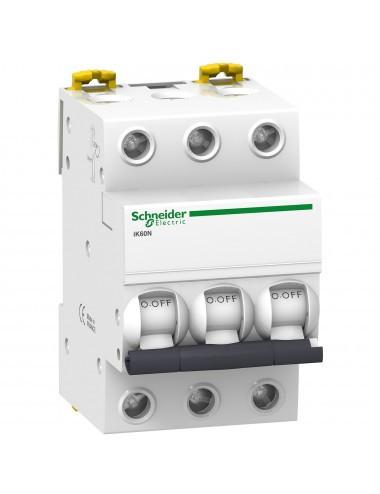 Siguranta automata 3P, 10A, curba de declansare C, capacitate de rupere 6kA, Schneider