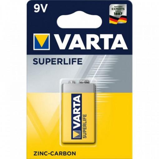 Baterie 9V Varta Superlife, Zinc Carbon
