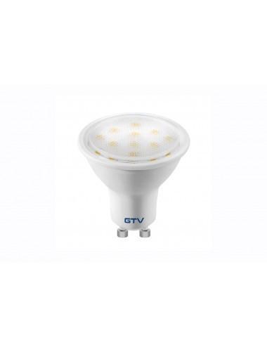 Bec led GU10, 3W(23W), lumina calda, 3000K, 220 lm, A+, GTV