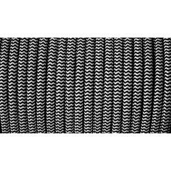Cablu Textil Alb-Negru 2x0,75