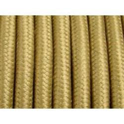 Cablu Textil Auriu 2x0,75