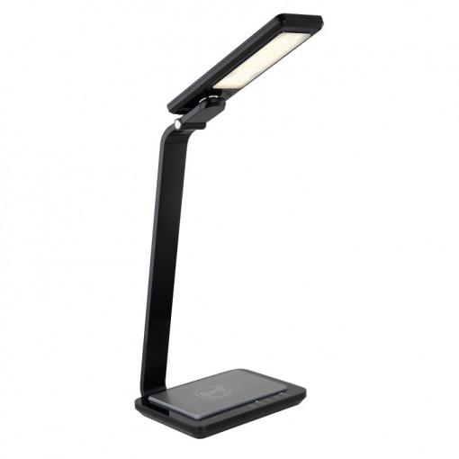 Lampa de birou LED 10W cu incarcare wireless, dimabila, temperatura de culoare ajustabila, neagra, 58339SWC Globo