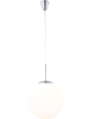 Pendul mat alb, 1 bec, dulie E27, Globo 1582